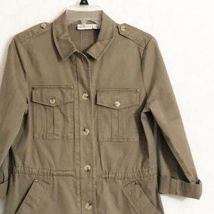 Liz CLaiborne Tan Utility Jacket